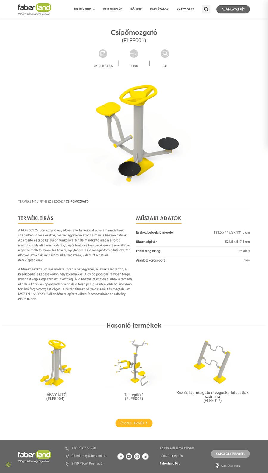 faberland-termkoldal wordpress weboldal építés