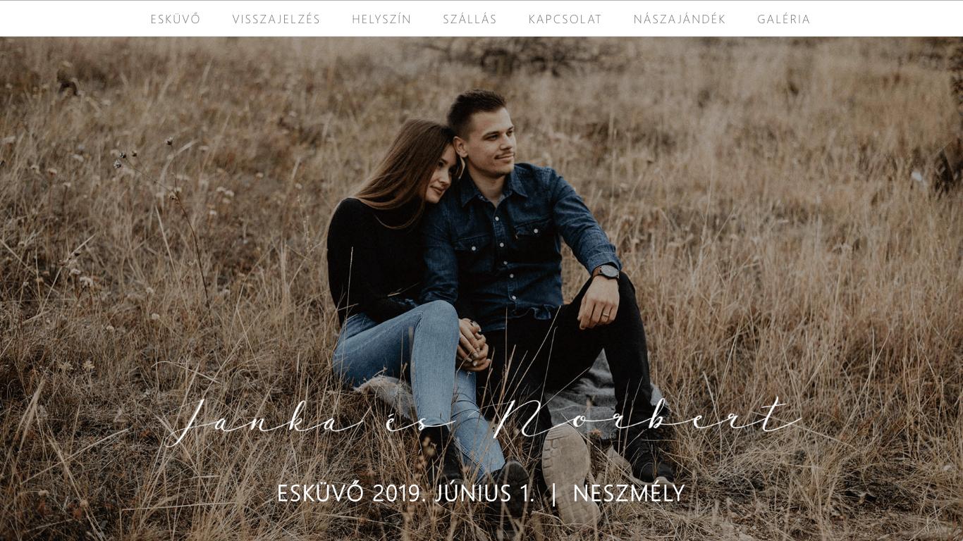 jankanorbi-esküvői-weboldal-készítés