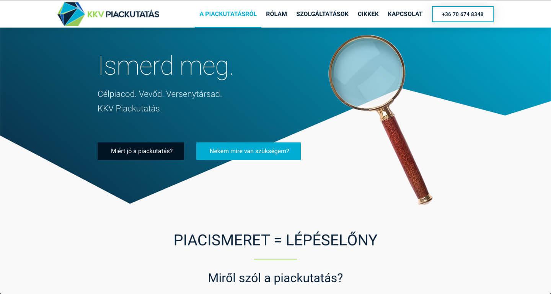 KKV piackutatás screen weboldal készítés nyitókép Kicsi Dóra