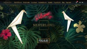 Neverland weboldal wordpress megújítás készítés Budapest