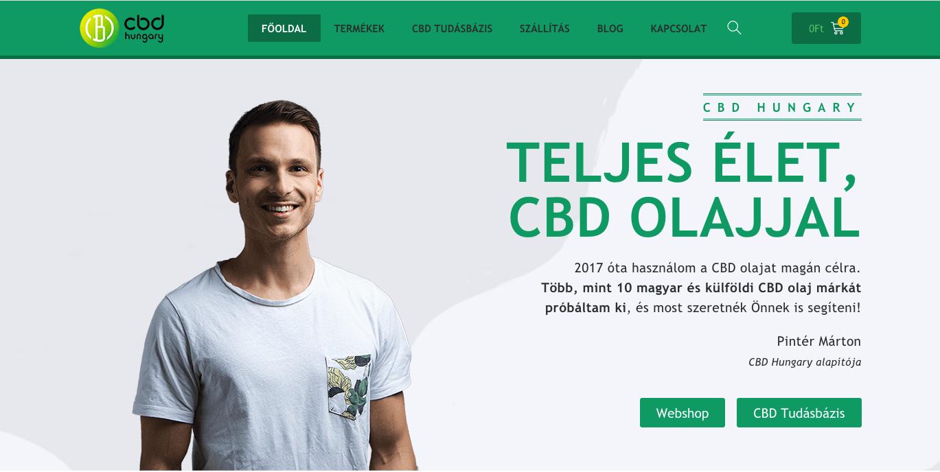 Webshop építés nulláról – CBD Hungary