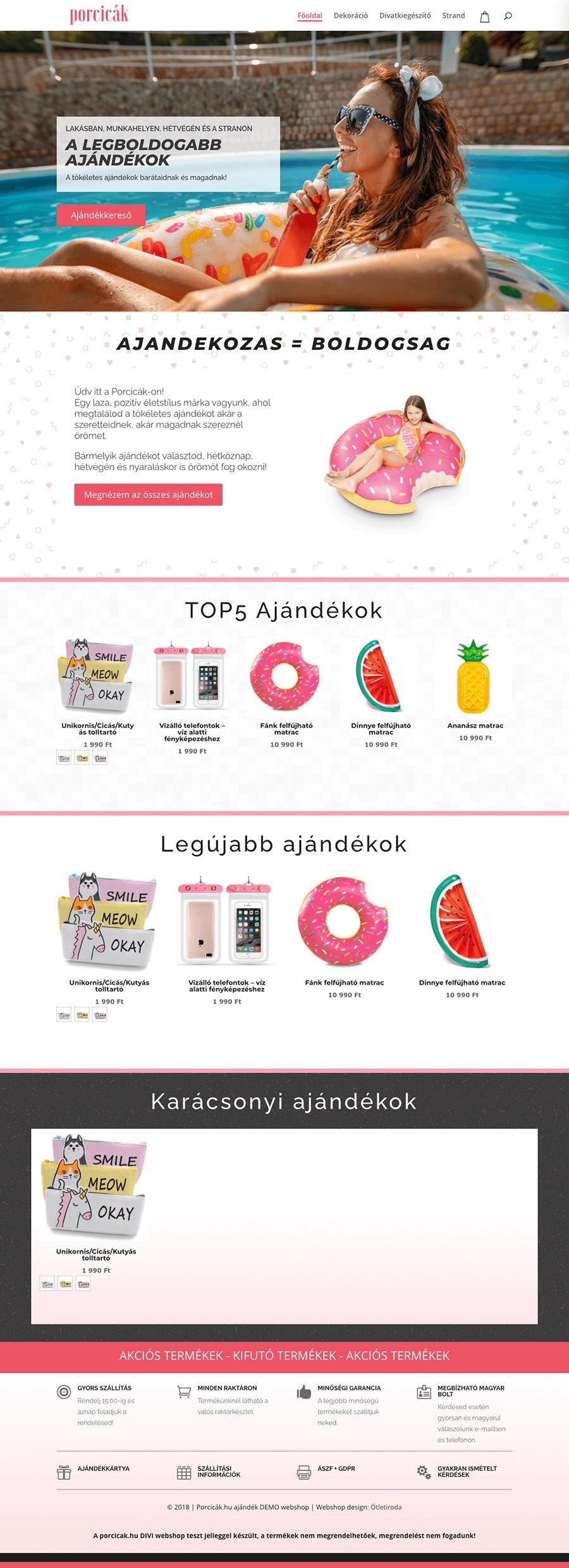 porcicak-hu-Divi-demo-webshop-weboldal