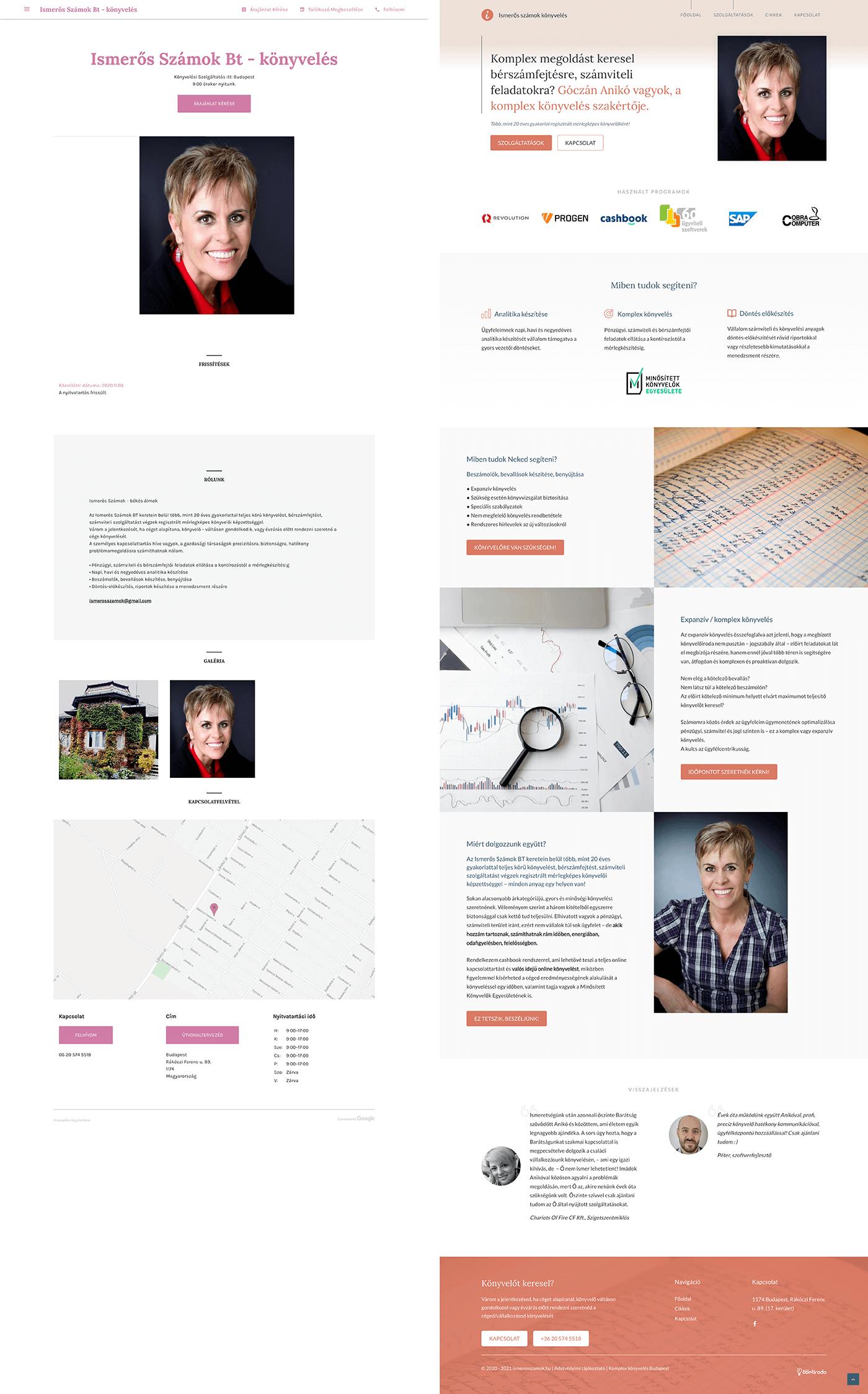 Mini weboldal építés - ismerosszamok.hu 2